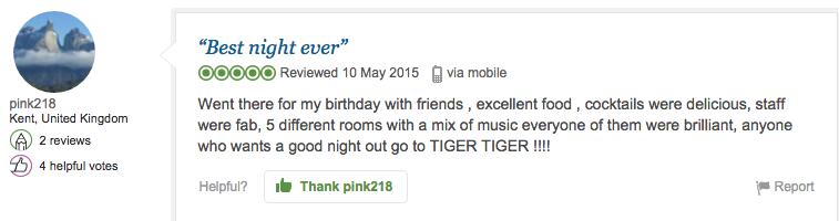Thanks Tiger Tiger PR