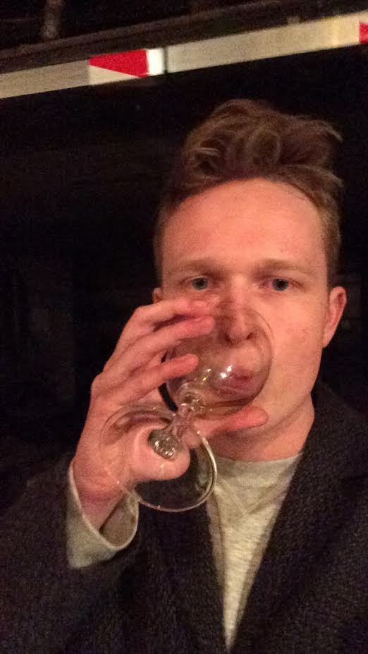 This Is The Author Drinking Free Wine