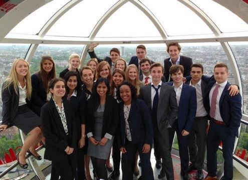 Yes that is some Goldman interns on the London Eye. Photo: Twitter