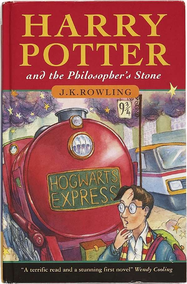 Rare first edition of harry potter and the philosopher's stone is.