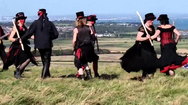 Bloodstone morris dancers at the Kite Festival
