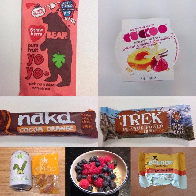 Just some of the sugar-free snacks that have hauled me through the last few weeks.