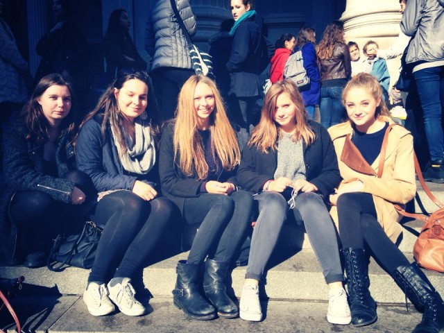 I mean, we even went on a school trip to NYC and sat on the Met Steps