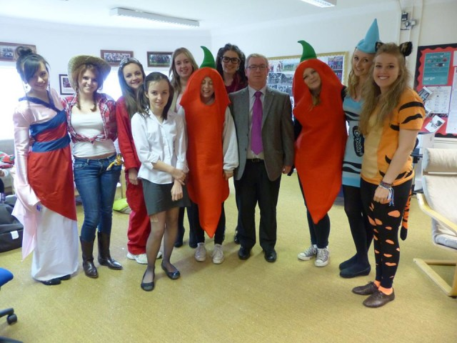 an array of costumes from English Lit