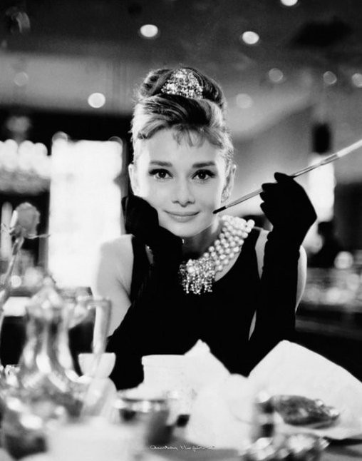 Hepburn was doing it long before the selfie