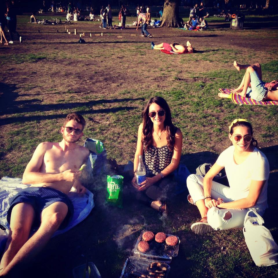 London Fields in the sun