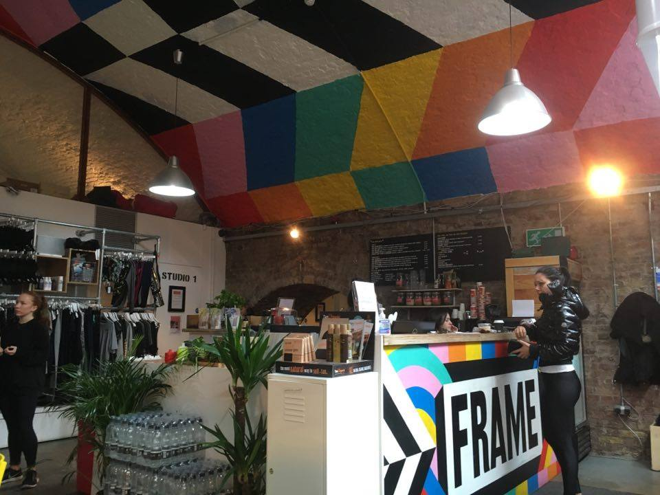 The lobby of Shoreditch Frame