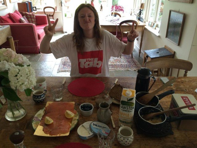 This is the breakfast she made me on my 21st birthday