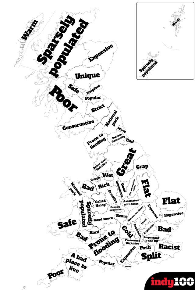 Administrative Boundaries of Great Britain 1995-96