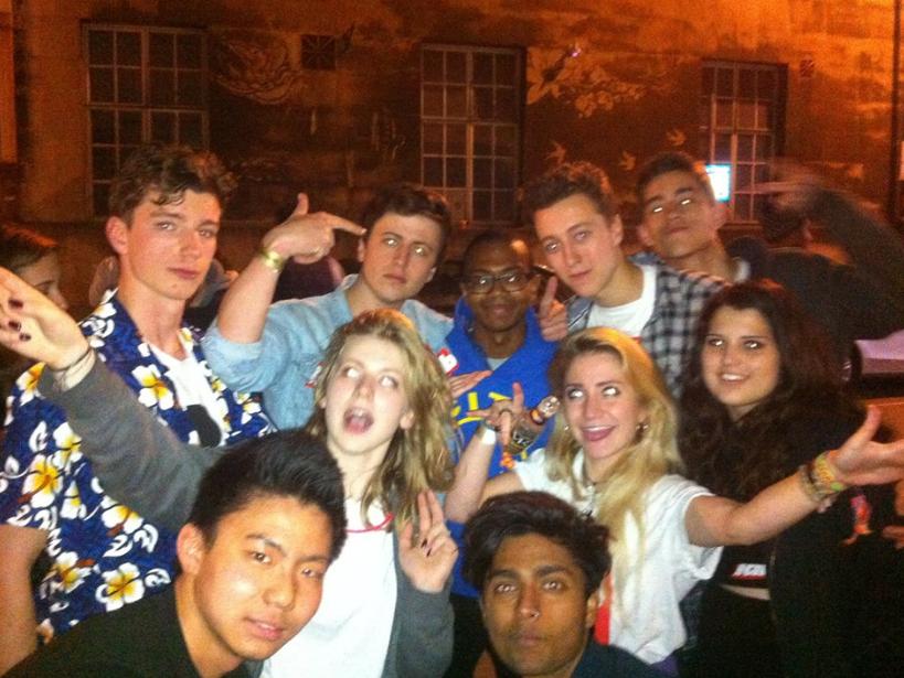An average Bristol night: Partying with Azeem Ward, flautist extraordinaire.