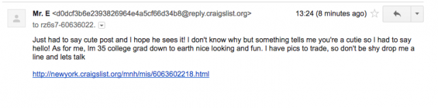 I posted the world's vaguest Craigslist ad and now I'm