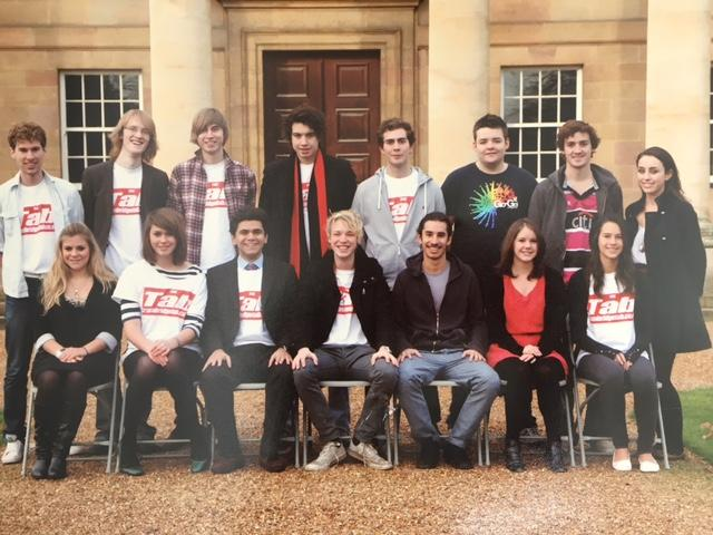 The original Tab team at Cambridge University in 2009