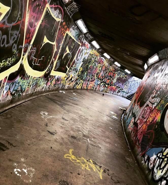 Image may contain: Bike, Bicycle, Transportation, Vehicle, Wall, Art, Mural, Painting, Graffiti