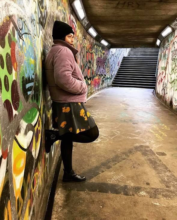 Image may contain: Photography, Portrait, Face, Photo, Path, Painting, Mural, Wall, Woman, Art, Graffiti, Female, Human, Person, Clothing, Apparel