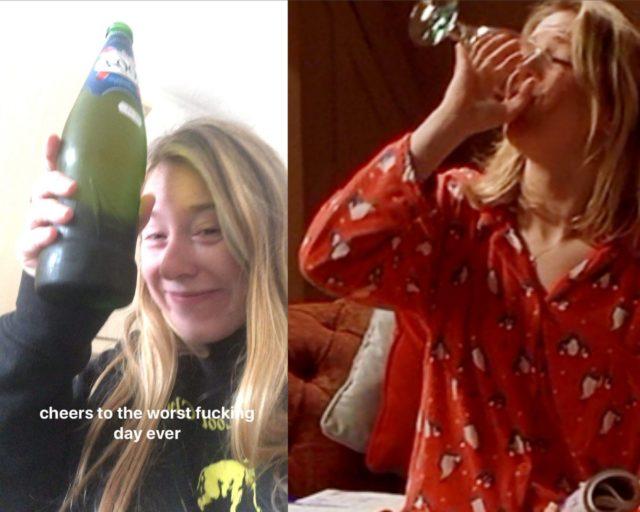 sad drunk girls